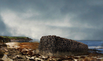 bonfire architecture papa westray orkney